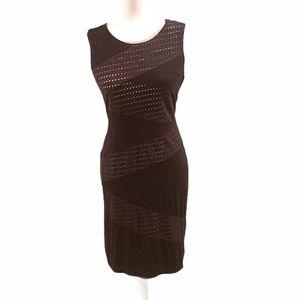 Calvin Klein Black Eyelet Slip Dress